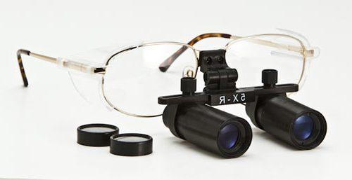 Radiation Protective Titanium Frame Dental Loupes, 5x-6x, DL-XD-TI
