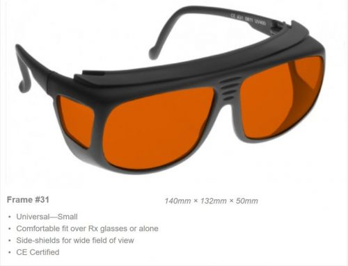 YAG Double 532/1064nm OD 7+ VLT 35% CE Certified DBY Laser Safety Glasses