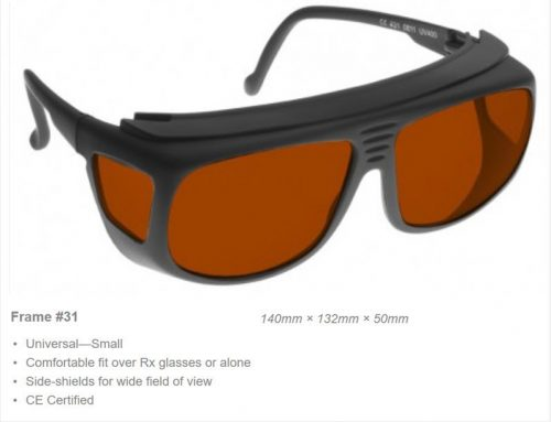 YAG Multi 532/810/1064nm OD7+ 810 0D6+ CE Certified YAD Laser Safety Glasses, frame #31