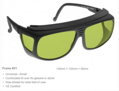 Nd YAG/>950-1080nm OD 7+ VLT 58% CE Certified YG3 Laser Safety Glasses