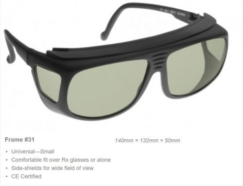 Holmium/YAG 1980-2550nm + 5200-11000nm OD 5+ VLT 41% CE Certified HOY Laser Safety Glasses