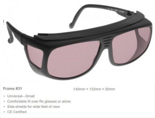Erbium, Diode 810nm/2780-2940nm OD 5+ VLT 61% CE Certified DRB Laser Safety Glasses
