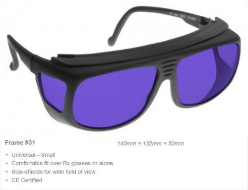 DYE 585-595nm OD 7+ VLT 15% CE Certified DYE Laser Safety Glasses