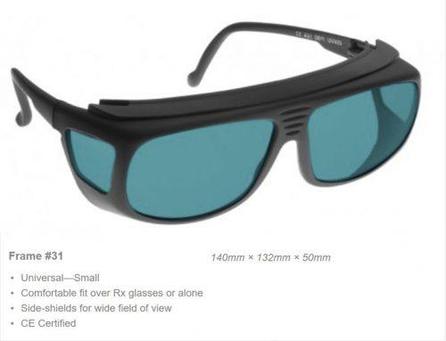 Alignment HeNe 190-380nm OD 5+ VLT 19.6% CE Certified HEA Laser Safety Glasses