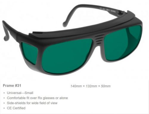 Alignment 190-390nm OD 5+ VLT 8% LD4 Laser Safety Glasses