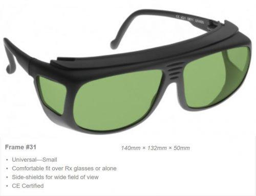 Alexandrite High VLT, 750-760nm OD 7+ VLT 51% CE Certified LIA Laser Safety Glasses
