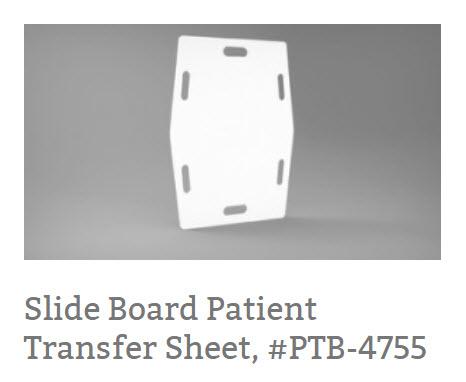 Slide Board Patient Transfer Sheet, #PTB-4755