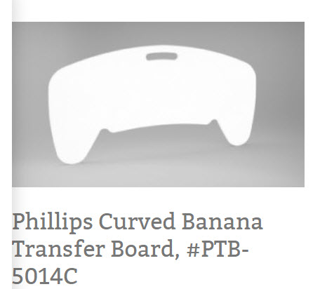 Phillips Curved Banana Transfer Board, #PTB-5014C