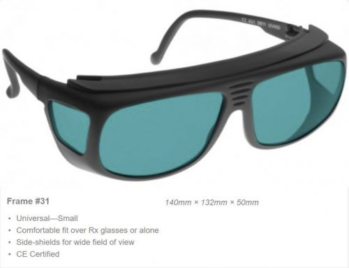 Alignment HeNe 625-660nm OD 3+ VLT 32% CE Certified RA3 Laser Safety Glasses