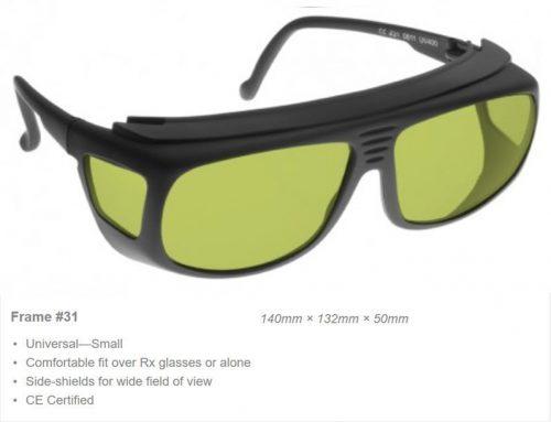 Erbium/YAG 950-1070nm OD7+ VLT 59% CE Cerfified YRB Laser Safety Glasses 7+ VLT 45% CE Certified ML1 Laser Safety Glasses